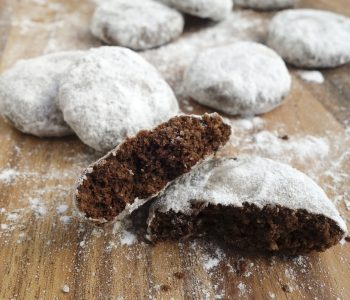 Delicious soft, buttery shortbread cookies coated with icing sugar are a perfect gift for the holidays! These traditional cookies, also called Russian tea cakes, snowballs, polvorones are eggless too!